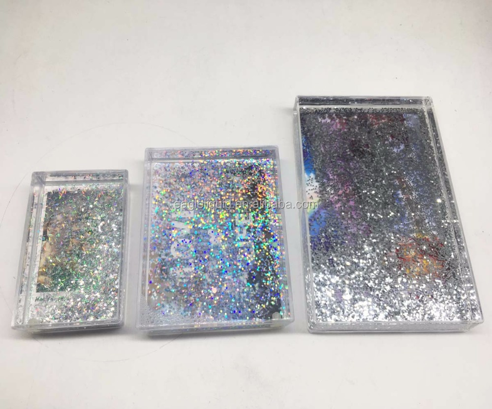 Instax Liquid Glitter Photo Frame Acrylic Water Sparkle Picture ...