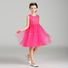 latest beautiful princess party wear westeren girl short front & long back flower girl dress