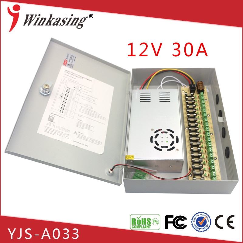 Manufacture supply 18 CH power supply box shunt filtering 12V 30A YJS-<strong>A033</strong> psu