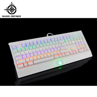 New arrive Pluggable Switches Seven Color Backlit Mechanical Keyboard for Gaming
