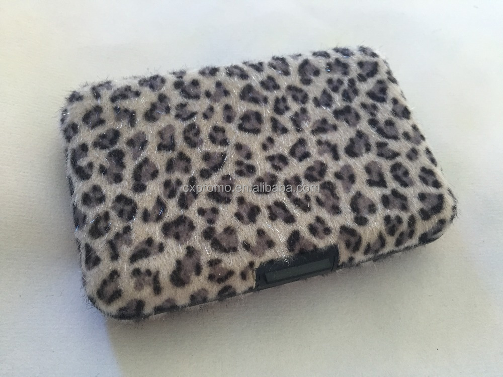 [Soft-woven fuzzy] Business Card Holder, Slim Coin Change / Credit Card Wallet Case with ID card slot for Women Teen Girls