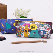 Languo monster fancy pu school pencil cases for teenagers