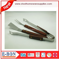 Miscellaneous wood handle BBQ tool set for high quality life