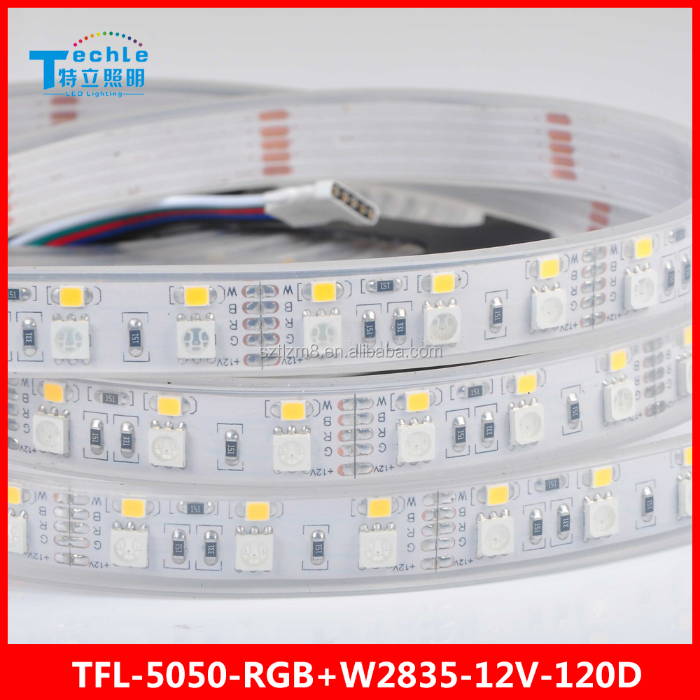 flexible led strip RGB 5050 2835 white double row 120 leds 12v waterproof tube