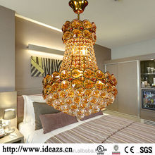 C98197A brass chandelier light, round glass ball pendant lighting, factory-outlet crystal chandelier light