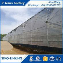 SINOLINK 2017 hot sale low price film corrugated plastic greenhouse panels for tomatoes