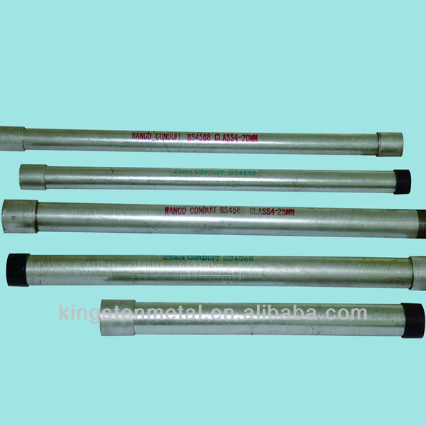 Carbon Steel ERW Threaded Galvanized Steel Pipe 1 1/4 inch