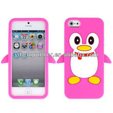 Cartoon penguin Pattern Silicone Protective Case for iPhone 4/4S