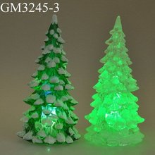 Led acrylic christmas tree with light color changing as christmas decoration