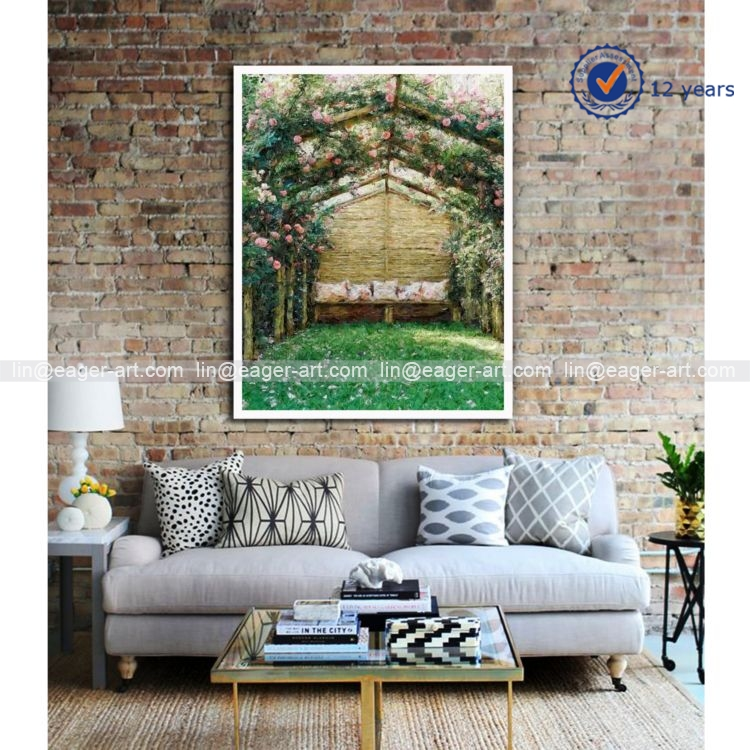 Wholesale Handmade Beautiful Scenery Painting Wall Art Decoration