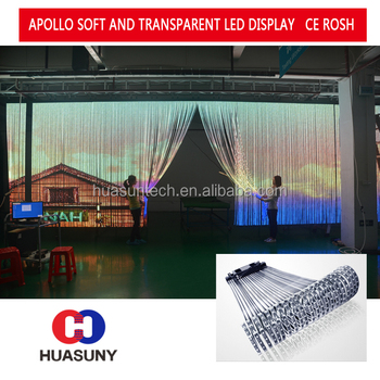 Flexible Transparent led display For rental For Advertising for cars shows