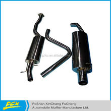 exhaust system with bending pipe and tail tip auto exhaust system component exhaust system whole set