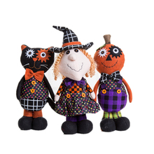 Halloween product custom plush stuffed witch toy doll