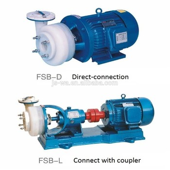 Factory direct sales FSB-D type PVC PP PVDF anti-corrosive chemical pump for hydrochloric acid