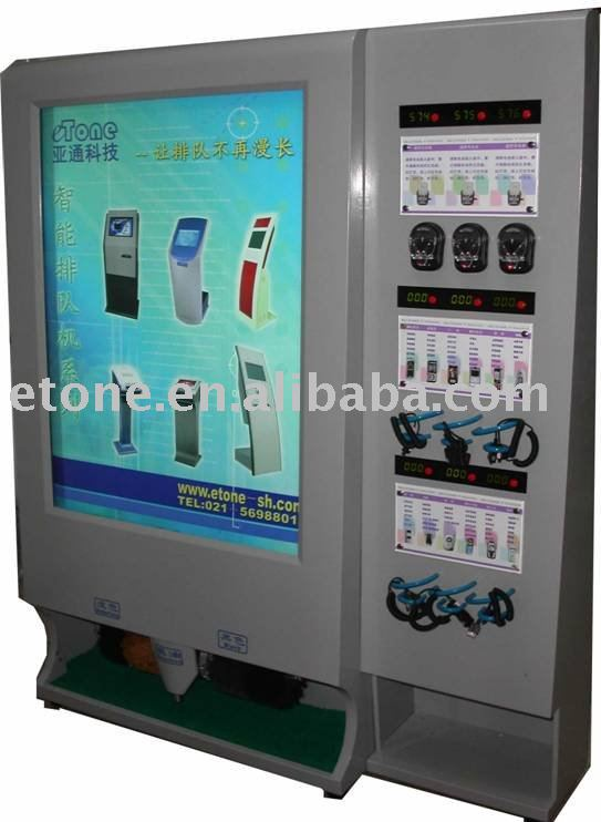 Free-standing Shoe shine machine with 10pcs of Rolled advertising light box and mobile phone charging