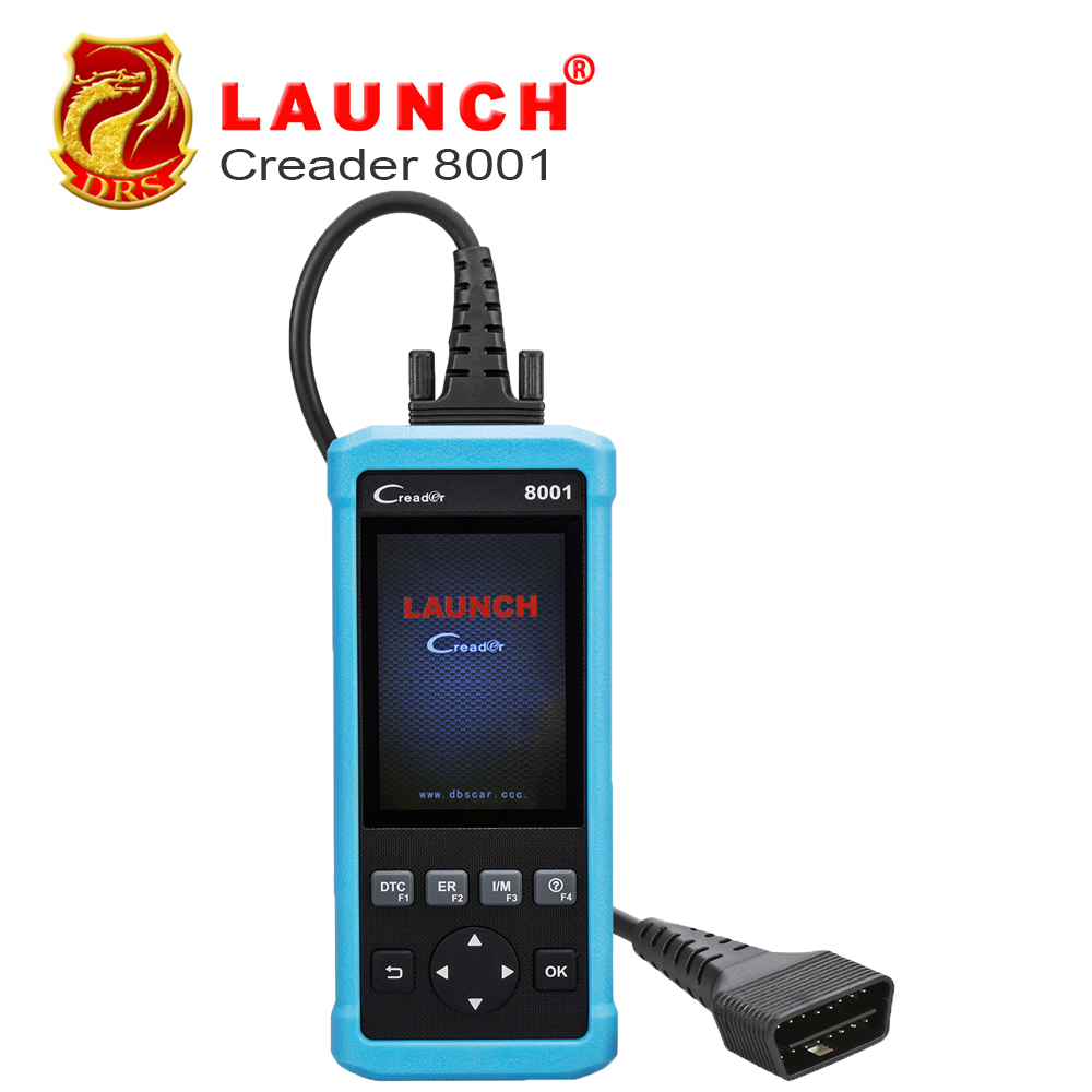 Launch AirBag Code Reader CReader 8001 Obd2 diagnostics auto scanner With O2 sensor test Read MIL,Code Car/Auto Tools