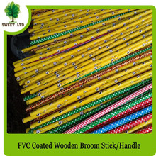 Wholesales 120cm length wooden broom sticks with pvc cover