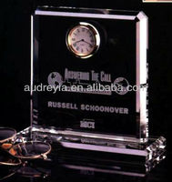 Personalized crystal glass globe clock