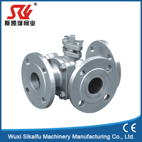 Factory direct supplier pneumatic 4inch stainless steel actuator ball valve