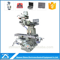 Conventional manual universal dro vertical milling machine