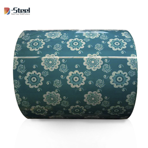 New Design Flower pattern PPGI PPGL pre-painted galvanized steel coil with flower design flower ppgi