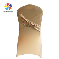Wholesale lycra banquet chair cover with cross belt plasic buckle, New design spandex chair cover