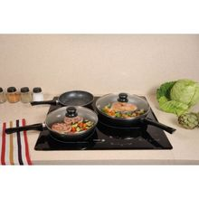 High quality Nonstick Ceramic pressed frying pan Frypan hand made pot design painting