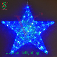 3D LED star motif light christmas tree decoration