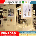 High end modern MDF perfume display showcase for perfume retail store display perfume furniture
