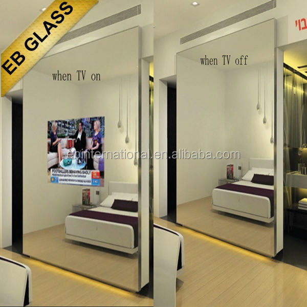 Mordern Dressing mirror, tv mirror glass, decorative mirror wall,magic mirror, EB GLASS