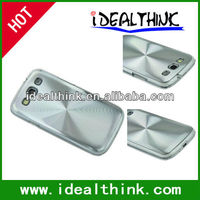 CD Lines Design PC+Metal Plastic Aluminium Back Case Cover For Samsung Galaxy S3 III i9300