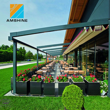 folding motorized pergola rain protection awnings