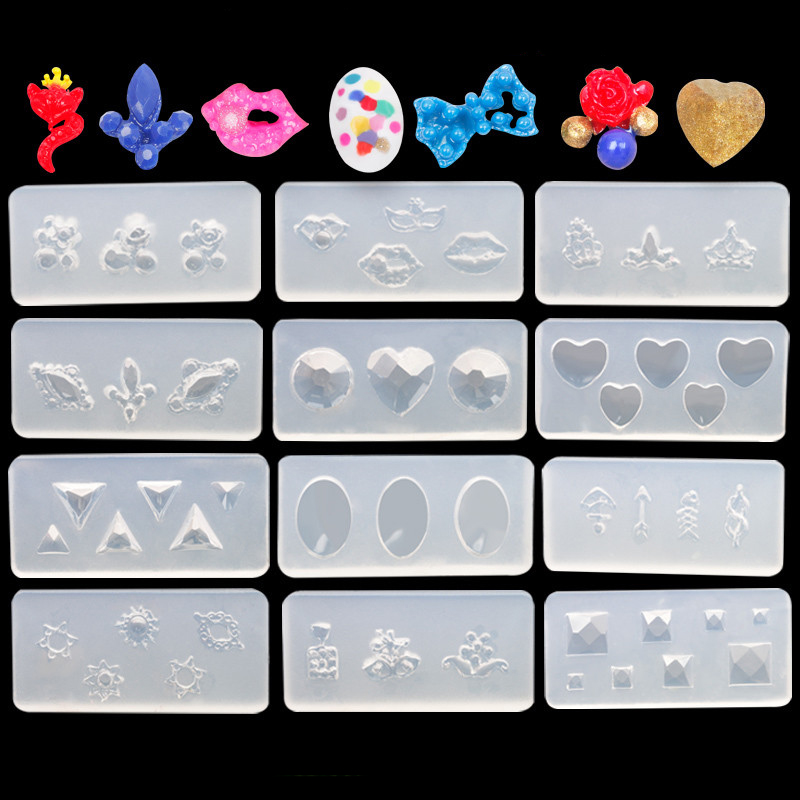 3D Nail Art Mold for DIY Decoration Silicone Nail Art Decoration