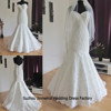 Real Sample Wedding Dress Graceful Mermaid Lace Wedding Dresses 2015 Zippered Back Buttons Cheap Wedding Gown