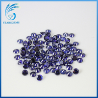 lab created synthetic gemstone tanzanite cubic zirconia beads