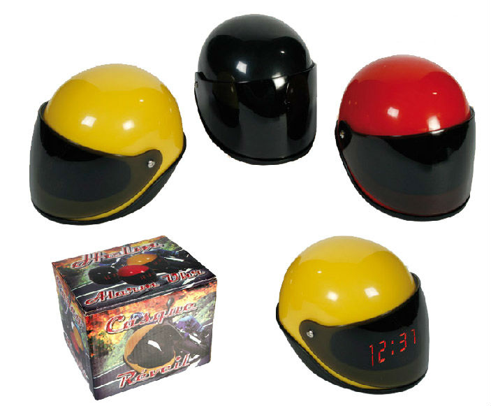 Racing Helmet Alarm Clock