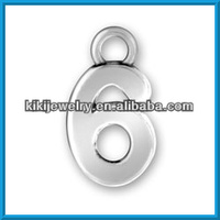 lucky number 6 pendant charm(185773)