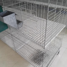 Hot galvanized wire mesh cheap commercial rabbit cage for industrial meat rabbit farm
