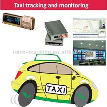 GPS tracking system supporting taxi meter with working status, fare and mileage