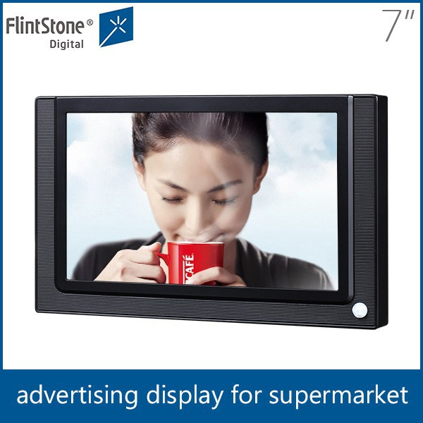"flintstone 7"" lcd digital product display digital signage device 7 inch lcd advertising video monitors in retail stores"