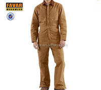Mens offshore workwear coverall with fire retardant