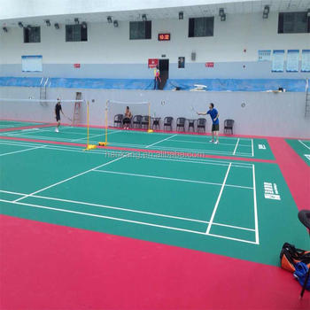 PVC Wear Resisting Layer Badminton Court Mat with 4.5 mm