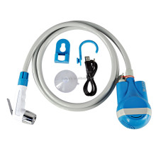 portable rechargeable toilet bidet bathroom sprayer with shower head and 1.8m hose