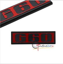 G60 VW Rear Car Auto Badge Emblem Sticker for Volkswagen VW G60 Golf POLO MK2 G60