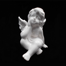 Christmas Decorations Wholesale White Ceramic Baby Angel