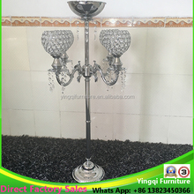 Wholesale Tall Crystal Candelabra Flower Stand for Wedding