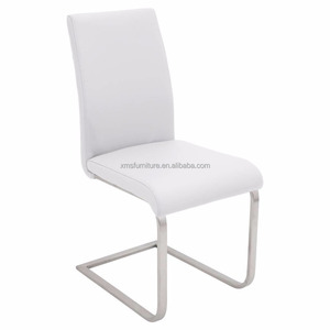 New design faux leather steel chrome leg fastfood restaurant furniture dining room chairs