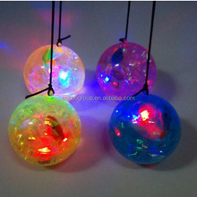 Energy saving 3D LED display light up rubber bouncing ball