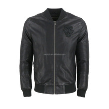 Mens Quilted Black PU Leather Jacket