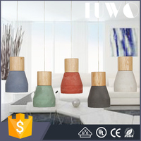Factory price white/Red/Green/black/blue Dining Room Cement Wooden Pendant Lights Lamps Ceiling Fixtures Lighting